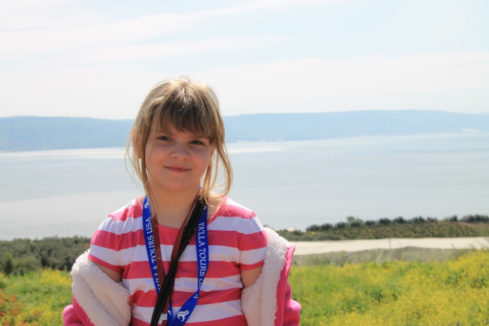 Zoë by the Sea of Galilee