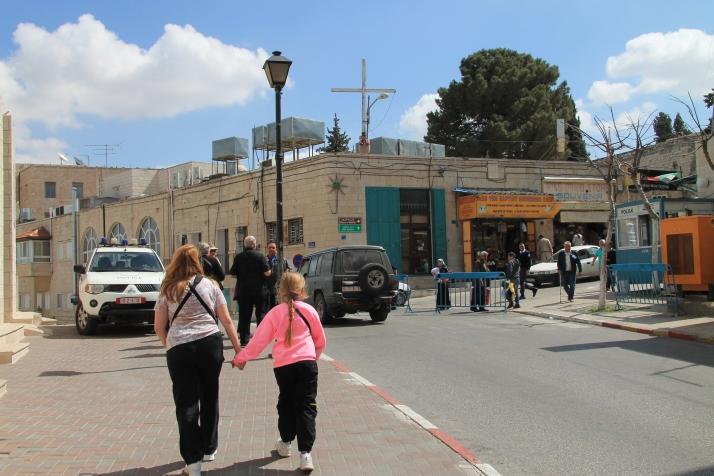 Zoë and her mother in  Bethlehem