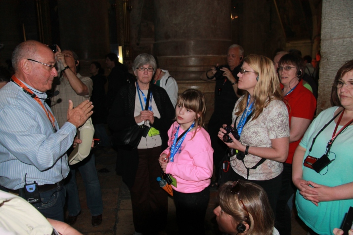 Inside of the Church of the Holy Sepulcher