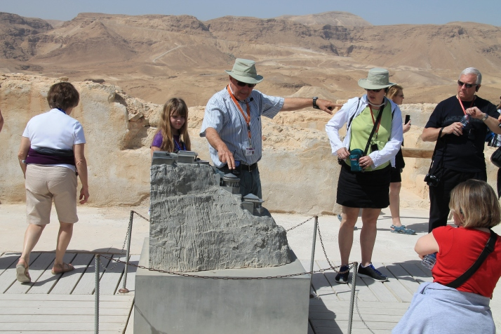 Zoë studies a model of Masada
