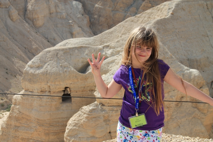 Zoë poses in front of Cave #4