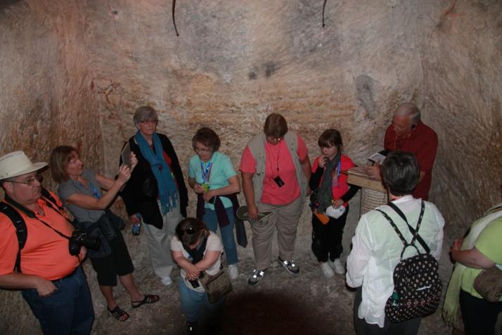 Zoë in a water cistern.