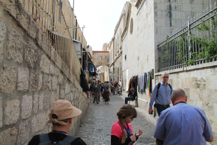 Zoë in the streets of Old Jerusalem