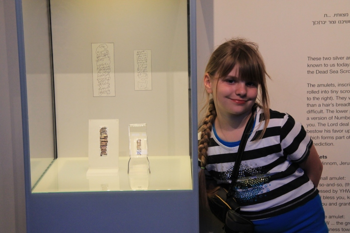 Zoë with the Silver Scrolls Exhibit