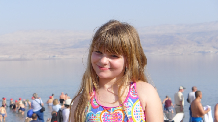 Zoë at the Dead Sea